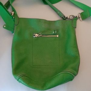 Roots green leather purse